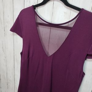New Charlotte Russe + Plum Bodycon Dress with Mesh